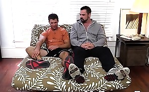 Cole gets hinge worship from big muscled and hairy Dolan