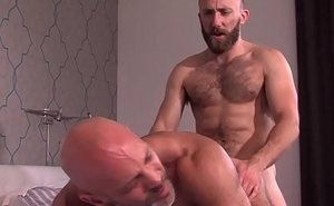 Gay bear jizz drenched