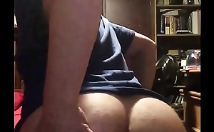 White Boy Shaking His Fat Ass
