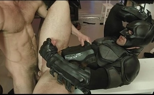 Batmans asshole getting fuck by Paddy