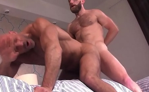 Muscled endures ass pounded